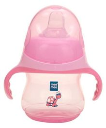 Mee Mee Feeding Sipper With Handle Pink - 230 ml