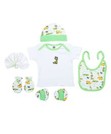 Mee Mee Gift Set Animal Design Set of 8 - Green