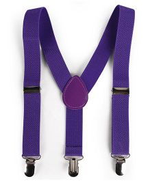 Babyhug Y Shape Suspenders - Purple