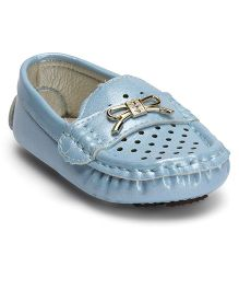 Cute Walk by Babyhug Loafers With Bow Motif - Blue