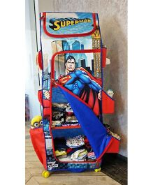DC Comics Superman Folding Wardrobe With Wheels - Blue