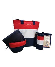 Fisher Price Preppy Diaper Bag 5 Piece Set - Red White Blue