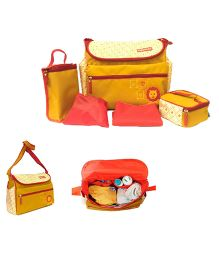 Fisher Price Diaper Bag Set With Changing Mat - Yellow