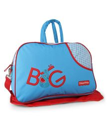 Fisher Price Diaper Bag With Changing Mat - Blue & Red