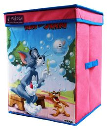 Tom & Jerry Storage Box Big - Pink & Blue