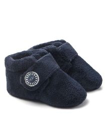 Alle Alle Soft Sole Velvet Fabric Baby Boots - Blue