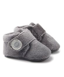 Alle Alle Soft Sole Velvet Fabric Baby Boots - Grey