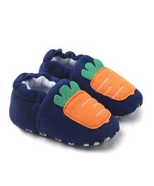 Alle Alle Carrot Motif Baby Shoes - Blue