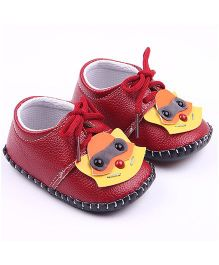 Alle Alle Shoes Style Booties Animal Design - Maroon