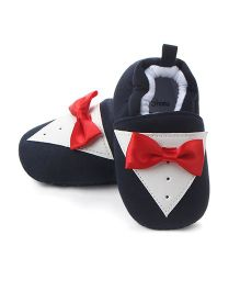 Alle Alle Booties With A Bow - Dark Blue