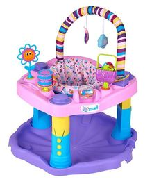 Evenflo Exersaucer Activity Walker Bounce And Learn Sweet Tea Party - Pink