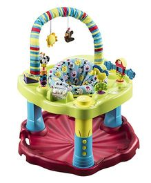 Evenflo Bouncing Barnyard Saucer - Green & Red
