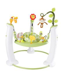 Evenflo Exersaucer Jump & Learn Stationary Jumper - White & Green