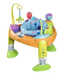 Evenflo Exersaucer Fast Fold Plus Go Bouncer A Saurus - Multi Color