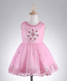 M'PRINCESS Sleeveless Party Wear Dress - Pink