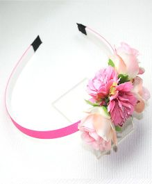 Asthetika Flowers Hairband - Pink