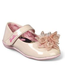 Barbie Bellies Velcro Closure & Floral Applique - Beige