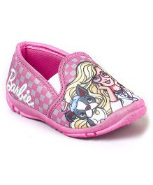 Barbie Slip On Casual Shoes - Pink & Grey