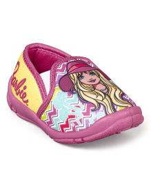 Barbie Slip On Casual Shoes - Pink & Yellow
