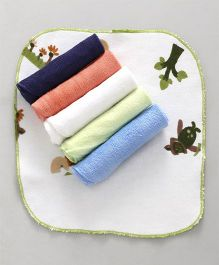 Ohms Face Napkins Pack of 6 - Multi Color