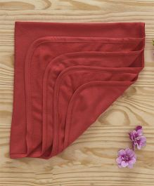 Ohms Hooded Terry Towels - Maroon