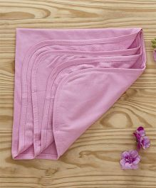 Ohms Hooded Terry Towels - Pink
