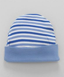 Ohms Round Cap Stripes Print -  Blue