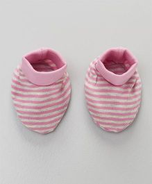 Ohms Booties Stripes Print - Pink