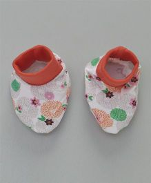 Ohms Booties Floral Print - Multi Colour