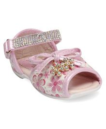 Cute Walk by Babyhug Party Wear Sandal Studded Detailing - Pink