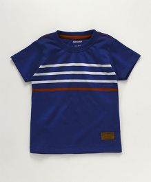 Cucumber Half Sleeves T-Shirt Stripe Print - Navy Blue