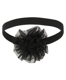 Baby Angel Big Flower Headband - Black