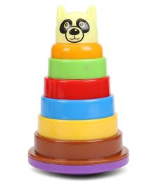 Fair Animal Face Rock And Stack Toy - Multicolour