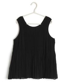 Cubmarks Pleated Top - Black