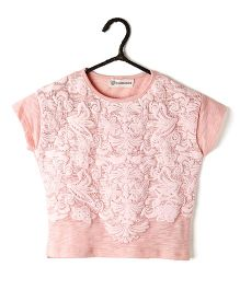 Cubmarks Embosed Top - Pink
