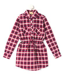Cubmarks Checkered Collar Dress - Red