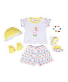 Beebop Boy's Apparel Gift Set Stripes Print Pack of 5 - Yellow & White