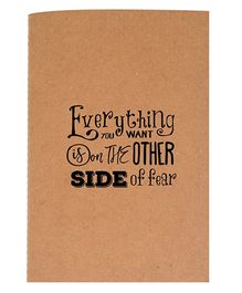 The Crazy Me A6 Thread Bound Diary - Black Brown