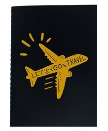 The Crazy Me A6 Thread Bound Diary Let's Go Travel - Yellow Black