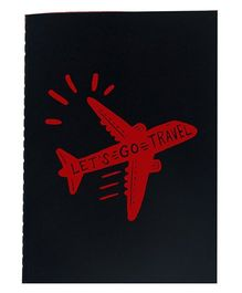 The Crazy Me A6 Thread Bound Diary Let's Go Travel - Red Black