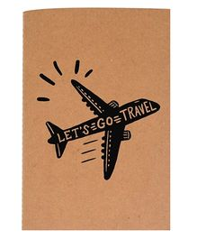 The Crazy Me A6 Thread Bound Diary Let's Go Travel - Black Brown