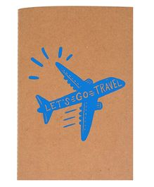 The Crazy Me A6 Thread Bound Diary Let's Go Travel - Blue Brown