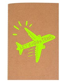 The Crazy Me A6 Thread Bound Diary Let's Go Travel - Green Brown