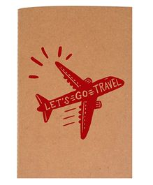 The Crazy Me A6 Thread Bound Diary Let's Go Travel - Red Brown
