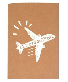 The Crazy Me A6 Thread Bound Diary Let's Go Travel - White Brown