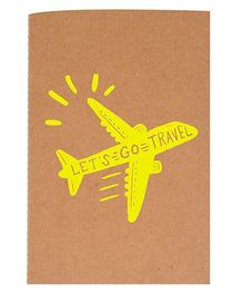 The Crazy Me A6 Thread Bound Diary Let's Go Travel - Yellow Brown