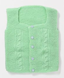 Mayra Knits Front Open Vest - Mint