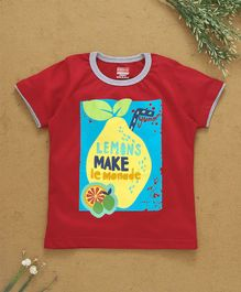 Babyhug Half Sleeves Tee Lemons Make Lemonade Print