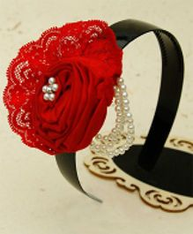 D'chica Party Wear Hairband - Red