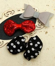 D'chica Just To Chic Clip Set - Grey Red & Black